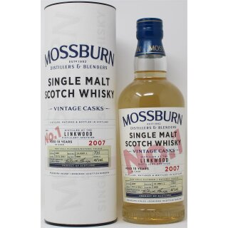 Mossburn VintageSingle Malt Whisky  Cask No.1 Linkwood 2007