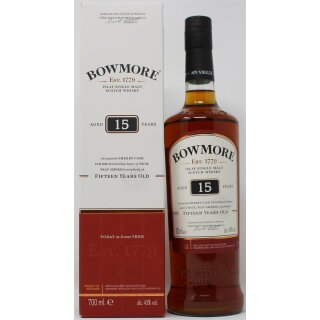 Bowmore Single Malt Sherry Cask Finished 15 Jahre