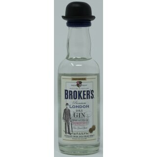 Brokers Premium London Dry Gin 5cl 47%vol.
