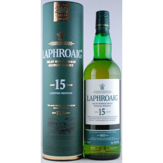 Laphroaig Distillery Single Malt Scotch 15 Jahre